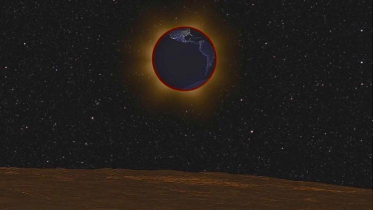 Un increíble video de la NASA muestra cómo se verá el eclipse lunar desde la Luna