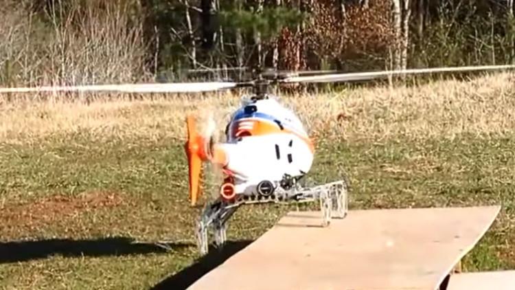 'Piernas' plegables: el adelanto que permitirá a los helicópteros aterrizar en cualquier superficie