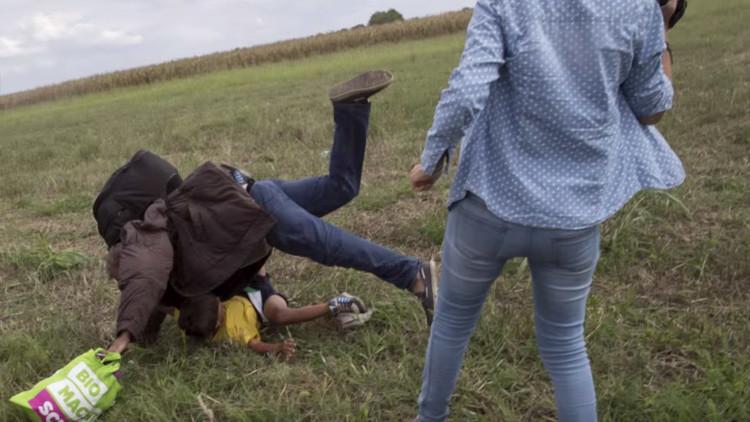 El final feliz del refugiado pateado por una periodista húngara