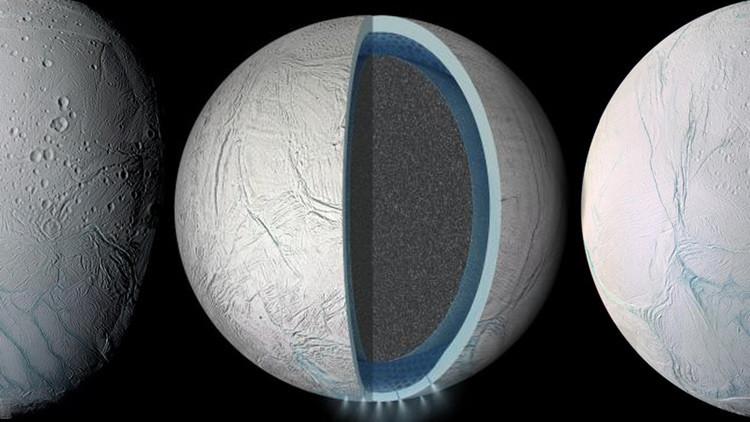 La sonda Cassini descubre un océano global en la luna Encélado de Saturno