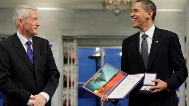 Exresponsable del Premio Nobel lamenta habérselo concedido a Obama