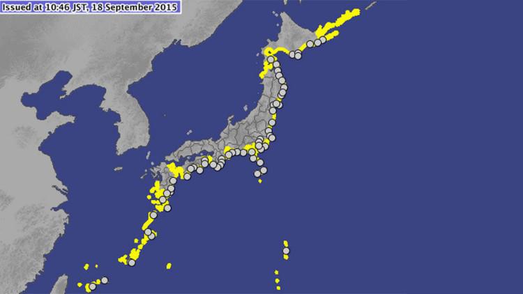 Las olas del tsunami de Chile alcanzan Japón