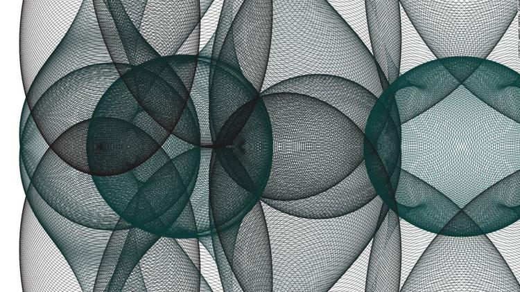 ¿Nuevo Da Vinci? Un matemático iraní 'dibuja' con fórmulas (Fotos)