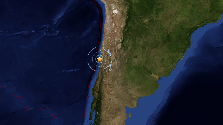 Un sismo de magnitud de 6,1 sacude Chile