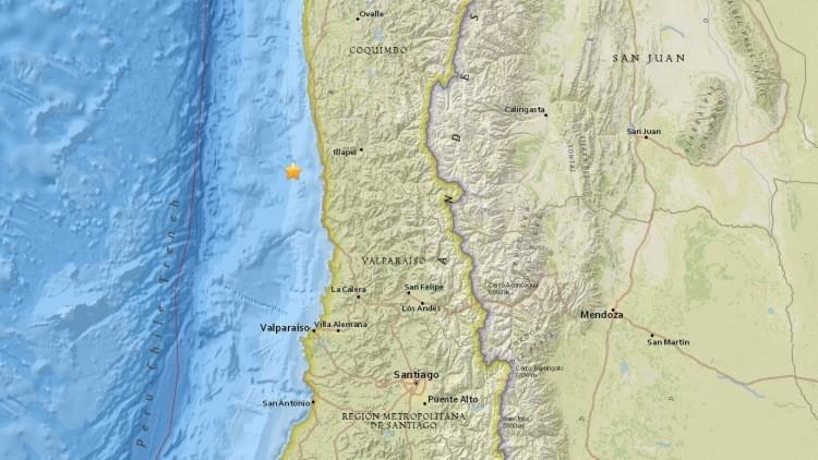 Un sismo de 6,5 sacude Chile y hace temblar edificios en la capital