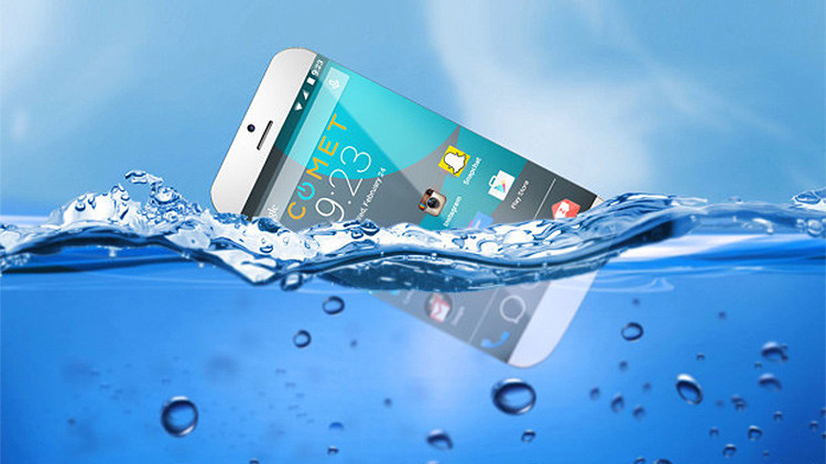 Inventan un 'smartphone' capaz de flotar en el agua
