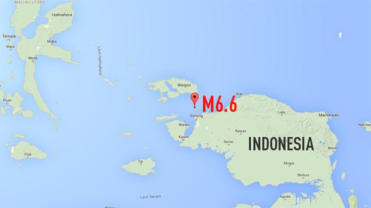 Indonesia es sacudida por un terremoto de magnitud 6,9