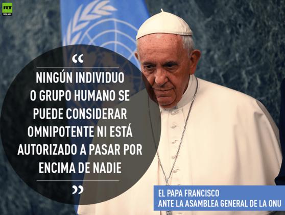 Las claves del discurso del papa Francisco ante la Asamblea General de la ONU