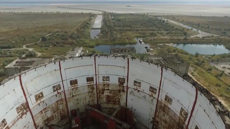Video: Un dron capta en Crimea una planta nuclear abandonada desde los tiempos de Chernóbil