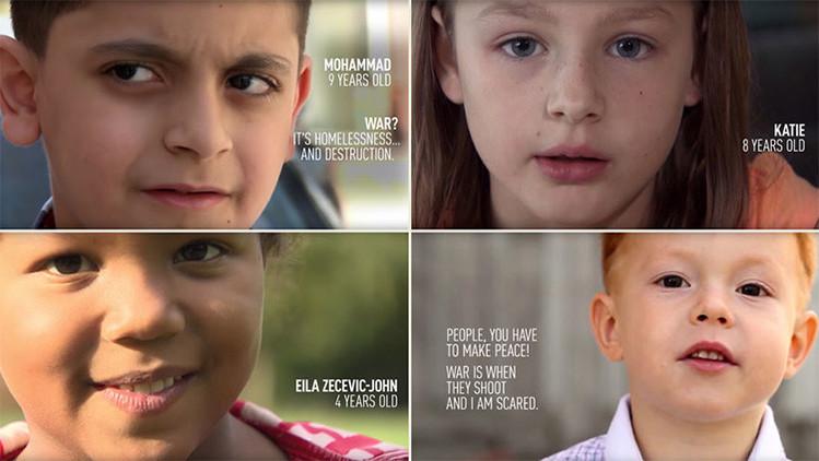 De Damasco a Londres, niños comparten con RT sus desgarradoras definiciones de la guerra (video)