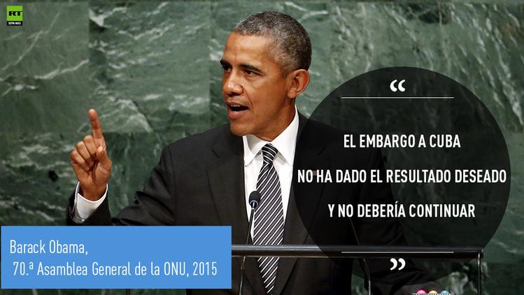"""Obama: """"Nuestro Congreso levantará el embargo a Cuba pronto, probablemente"""""""