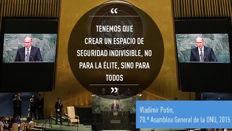 Las mejores 10 citas de la intervención de Putin en la 70. ª Asamblea General de la ONU