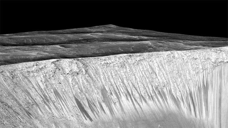 ¿Cómo es la zona de Marte en la que la NASA encontró agua líquida? (Video)