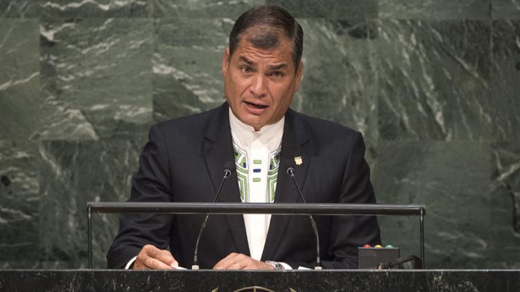 """Rafael Correa: """"La globalización neoliberal no busca crear una sociedad planetaria"""""""