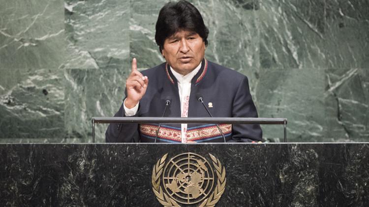 Evo Morales presenta su discurso ante la Asamblea General de la ONU