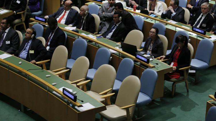 Las discordias políticas dentro de la Asamblea General de la ONU