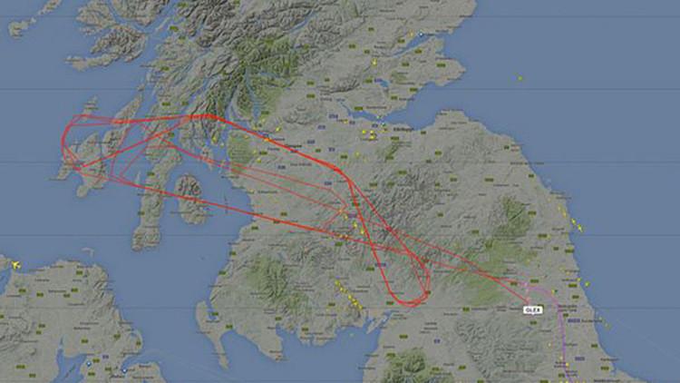Reino Unido: Enigmático avión deja boquiabiertos a los controladores