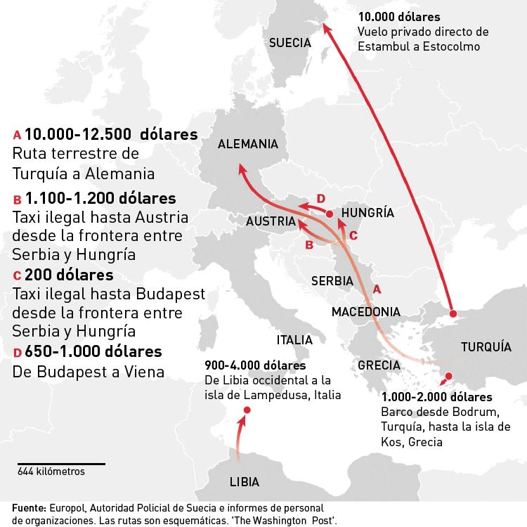 Tráfico de refugiados a Europa, una  nueva industria en crecimiento