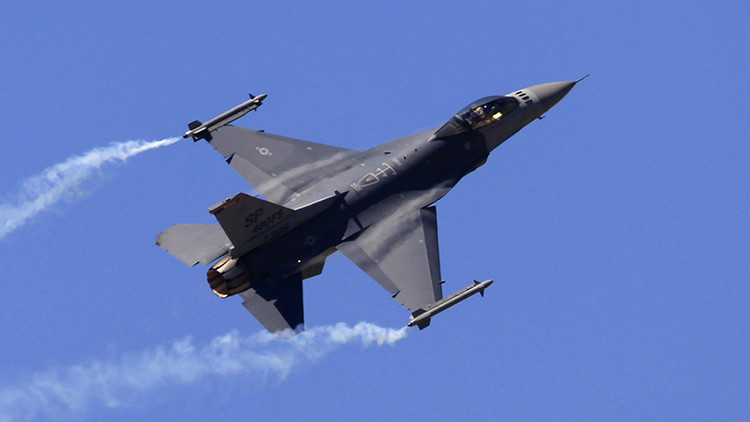 El cazabombardero F-16 'Fighting Falcon'