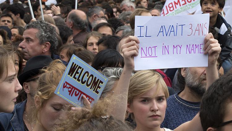 Europa acoge multitudinarias marchas tanto de apoyo como de rechazo a los inmigrantes