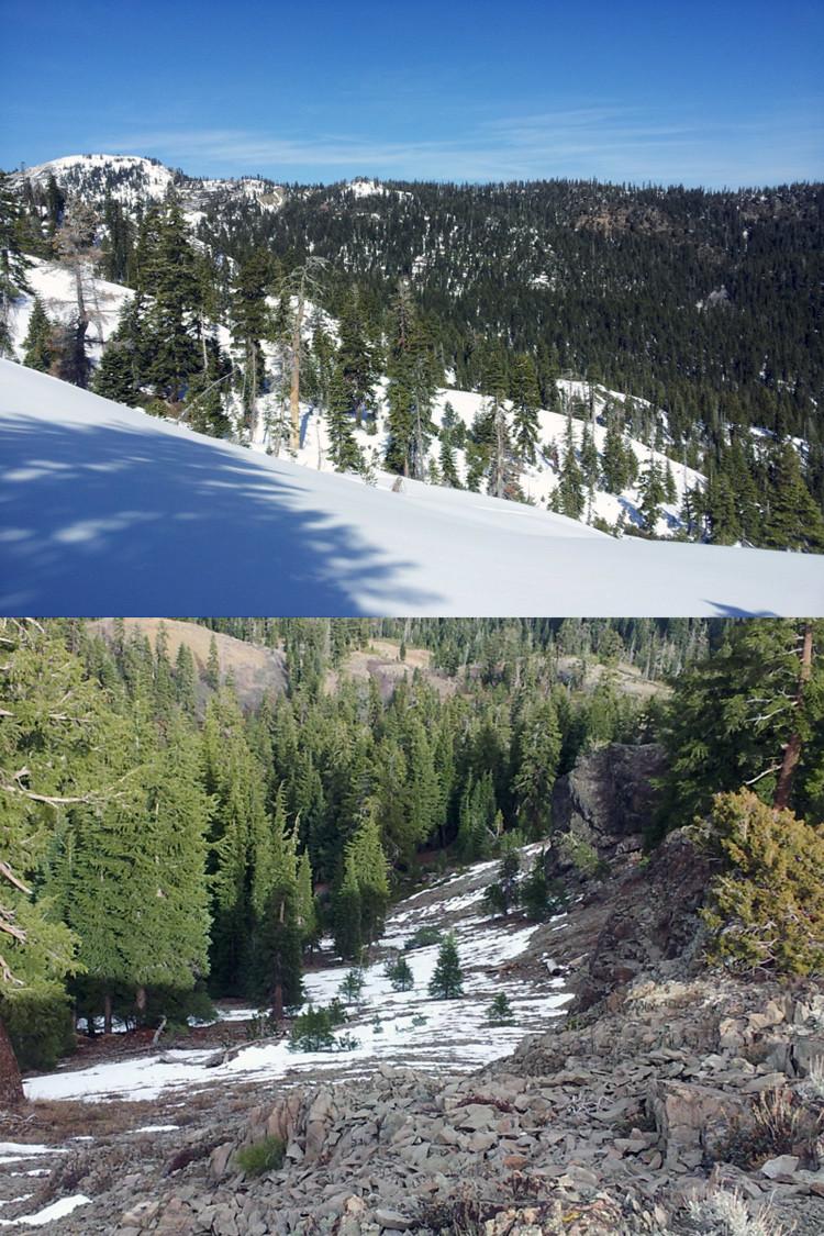 Fotos: Las montañas de California  antes y después