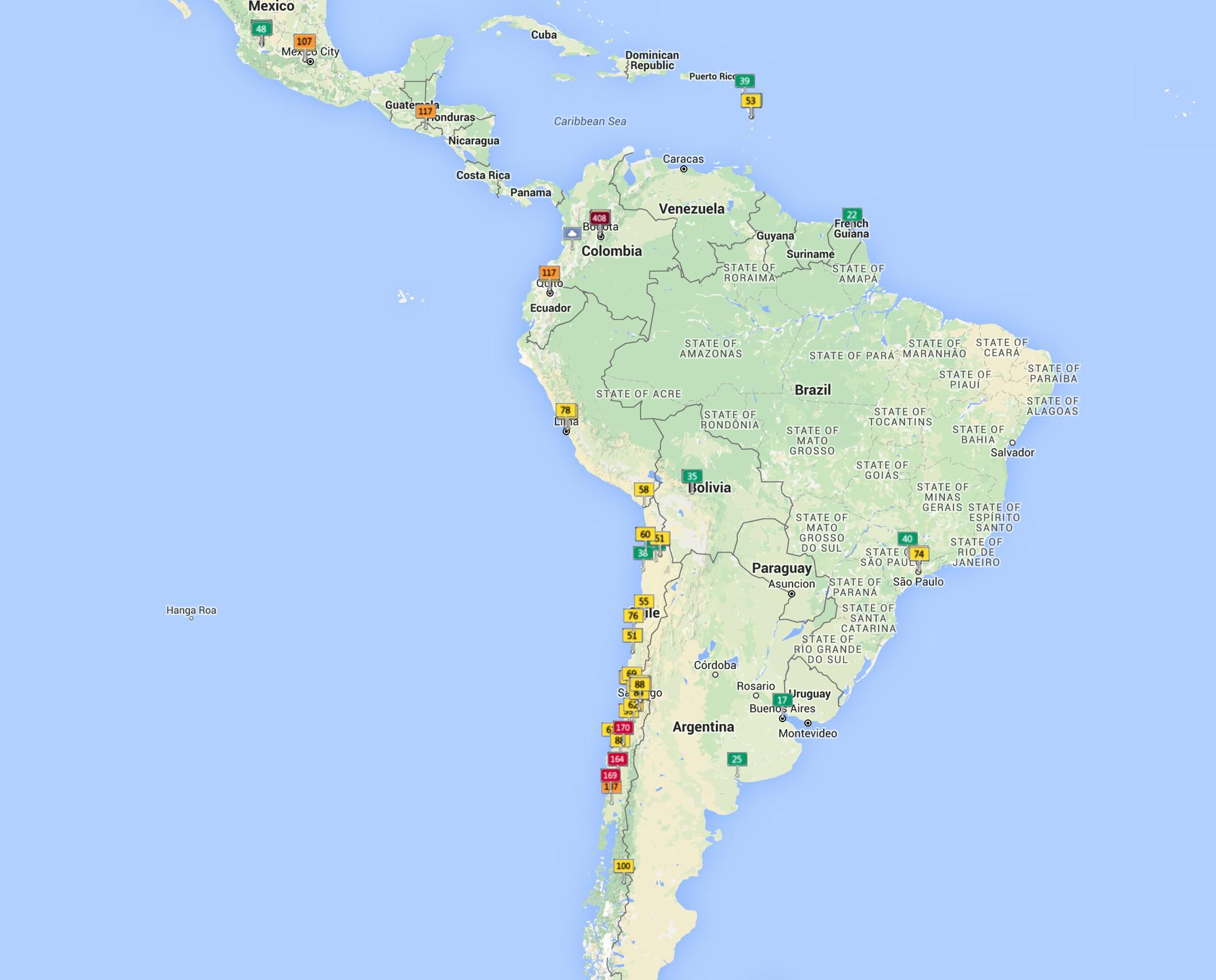 El mapa interactivo muestra en vivo los niveles de la polución en las ciudades del mundo