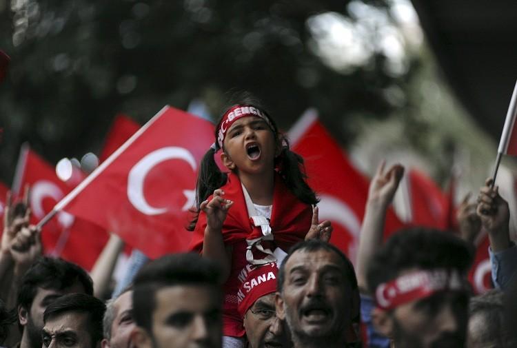 Manifestación de nacionalistas turcos en Estambul.
