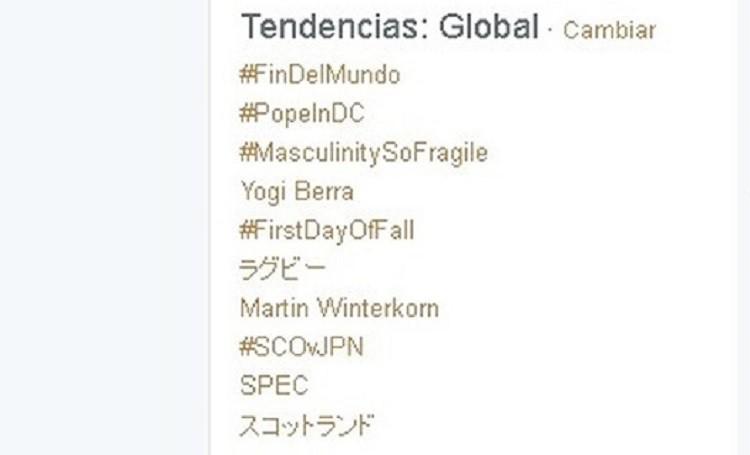¿Por qué el 'hashtag' #FinDelMundo está entre las tendencias mundiales?