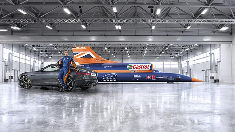 Presentan el coche Bloodhound SSC que batirá el récord de velocidad