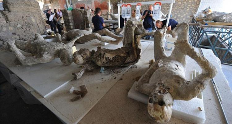 ¿Qué hay dentro de las momias Pompeya?