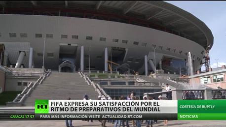 Rusia: FIFA queda satisfecha con el ritmo de preparativos del Mundial