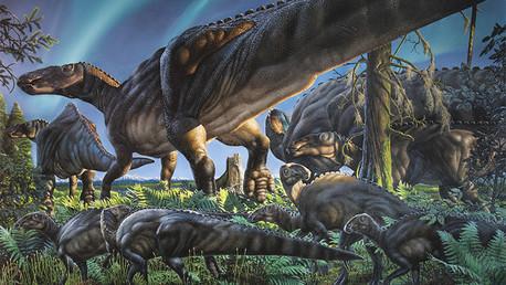 Descubren en Alaska una nueva especie de dinosaurio ártico
