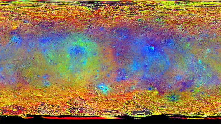 Ceres sigue asombrando: tras los puntos brillantes, brotes de energía no explicados
