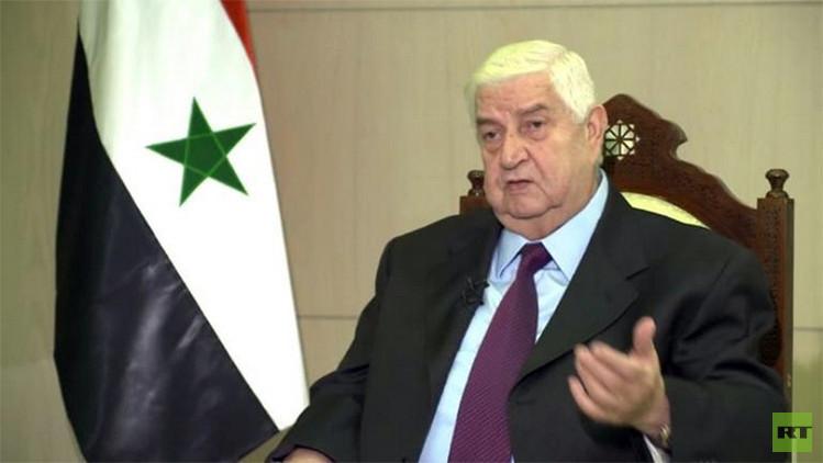 """Ministro de Relaciones Exteriores de Siria a RT: """"EE.UU. va a mentir hasta el final"""""""