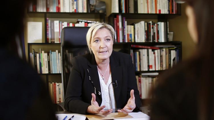 """Marine Le Pen: """"Francia debe unirse a Siria y dejar de ser un lacayo de EE.UU."""""""