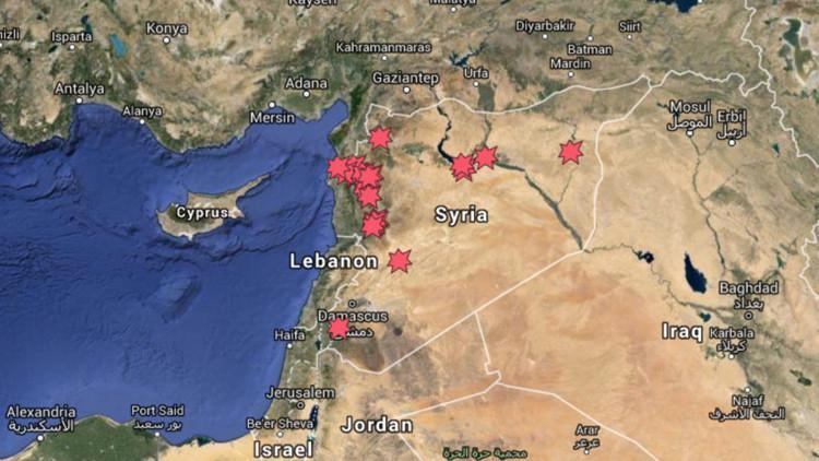 Mapa interactivo: Ataques de los aviones rusos contra el EI en Siria
