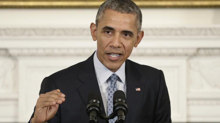 El presidente de EE.UU., Barack Obama, durante una conferencia de prensa en la Casa Blanca.