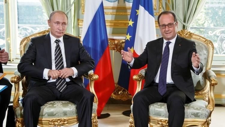 Las negociaciones de Vladímir Putin y François Hollande en París