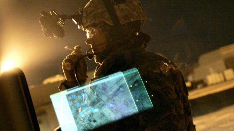 Un soldado estadounidense en Bagdad, Irak