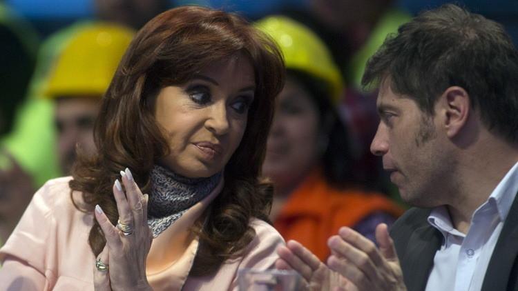 La presidenta de Argentina, Cristina Fernández de Kirchner y el ministro de Economía, Axel Kicillof