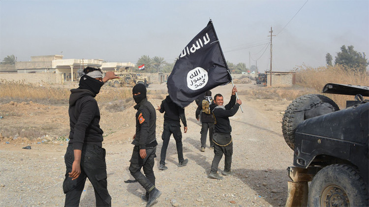 Milicianos del Estado Islámico en Siria