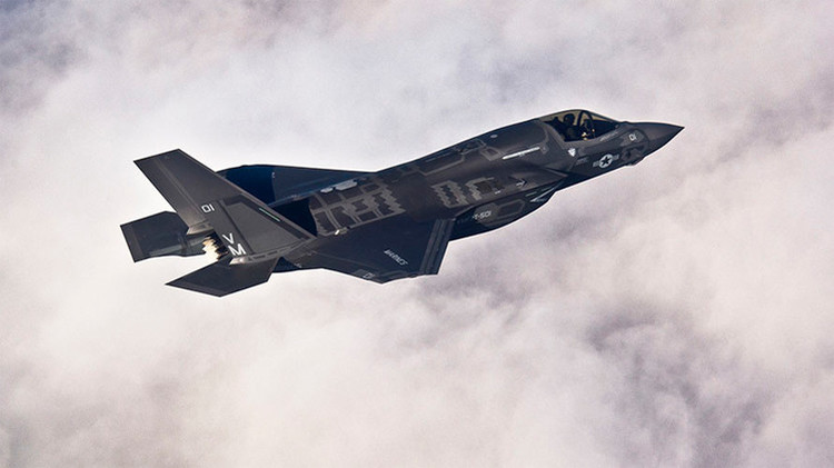 Caza polivalente estadounidense F-35B Lightning II desarrollado por Lockheed Martin