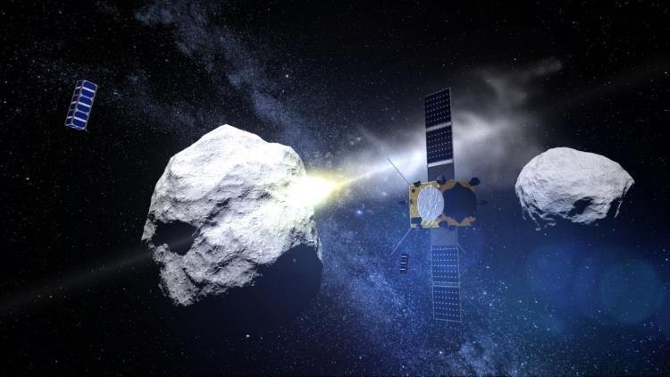 Carambola cósmica a la vista: Científicos intentarán desviar un asteroide golpeándolo con una nave