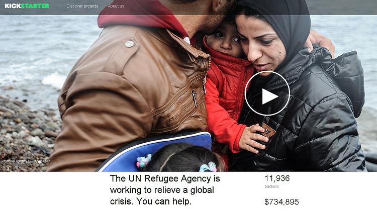 La plataforma Kickstarter ha contravenido su propio reglamento para poder ayudar a los refugiados sirios