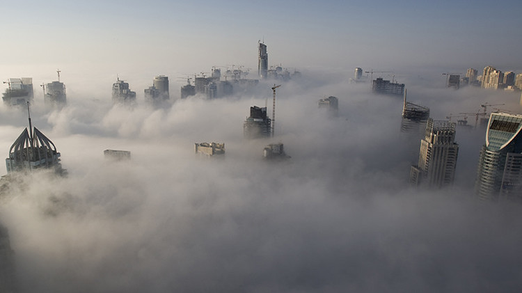Vistas de Dubái. Emiratos Árabes Unidos