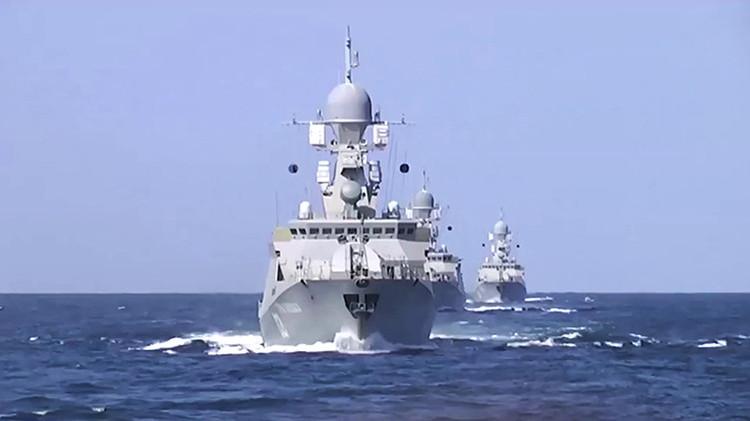 Buques de la Flotilla del Caspio rusa han lanzado 26 misiles de crucero contra bases del Estado Islámico
