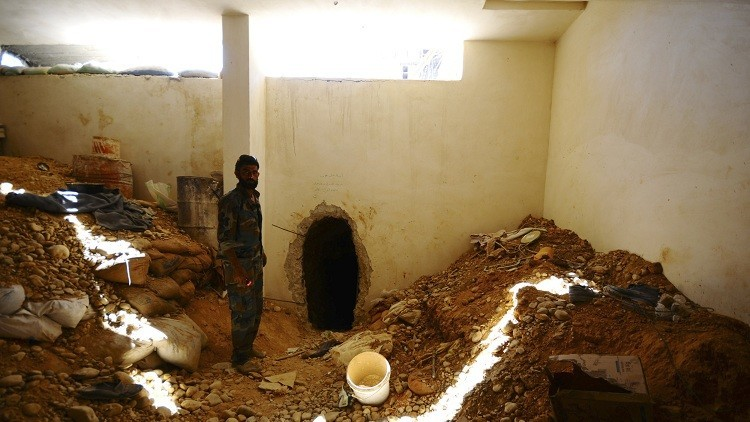 Video: Muestran por primera vez los túneles que excavó el Estado Islámico para conquistar Damasco