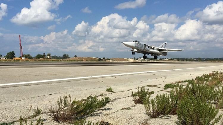 Aviones de ataque militar de la Fuerza Aérea de Rusia en Siria
