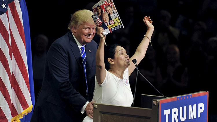 ¿Amor no correspondido? Colombiana 'grita' a Trump que los latinos lo quieren (Video)