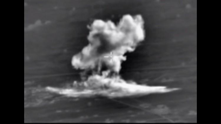 Nuevo video: El poderío aéreo ruso aniquila elementos clave del EI en Siria
